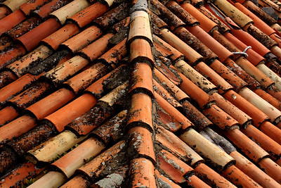 Some of the old tiles - Dubrovnik, Croatia ... April 29, 2008 ... Photo by Rob Page III