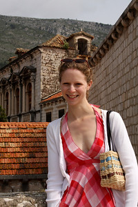 Emily on the walls - Dubrovnik, Croatia ... April 29, 2008 ... Photo by Rob Page III