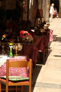 Dining in the streets - Dubrovnik, Croatia ... May 1, 2008 ... Photo by Rob Page III