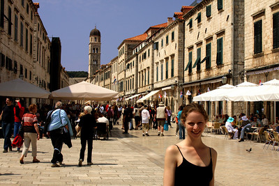 Emily on the Stradun - Dubrovnik, Croatia ... May 1, 2008 ... Photo by Rob Page III