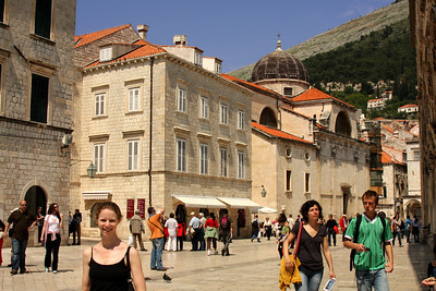 Emily on the Pred Dvorom - Dubrovnik, Croatia ... May 1, 2008 ... Photo by Rob Page III
