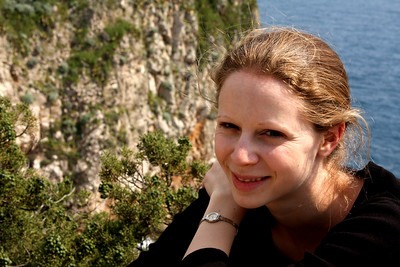 Emily, enjoying the sunshine - Dubrovnik, Croatia ... May 1, 2008 ... Photo by Rob Page III