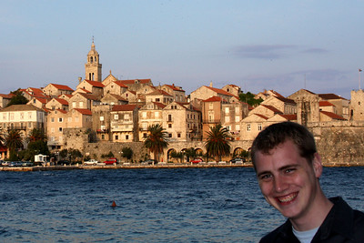 Rob and the old town - Korcula, Croatia ... May 2, 2008 ... Photo by Emily Page