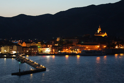 Korcula at night - Korcula, Croatia ... May 3, 2008 ... Photo by Rob Page III