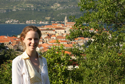 Emily and the old town of Korcula - Korcula, Croatia ... May 2, 2008 ... Photo by Rob Page III