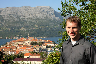 Rob and the town of Korcula - Korcula, Croatia ... May 2, 2008 ... Photo by Emily Page