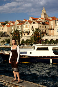Emily enjoying the evening - Korcula, Croatia ... May 3, 2008 ... Photo by Rob Page III