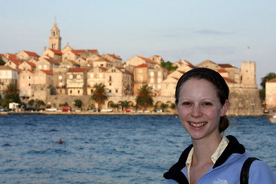 Emily and the old town - Korcula, Croatia ... May 2, 2008 ... Photo by Rob Page III