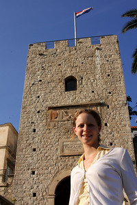 Emily at the entrance of Korcula - Korcula, Croatia ... May 2, 2008 ... Photo by Rob Page III
