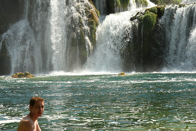 Rob out for a swim in the cold water - Krka N.P., Croatia ... May 8, 2008 ... Photo by Emily Page