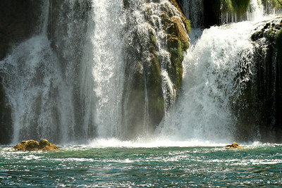 The water comes crashing into the lagoon - Krka N.P., Croatia ... May 8, 2008 ... Photo by Emily Page