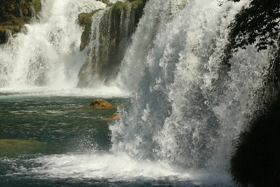 The water comes roaring over the falls - Krka N.P., Croatia ... May 8, 2008 ... Photo by Rob Page III