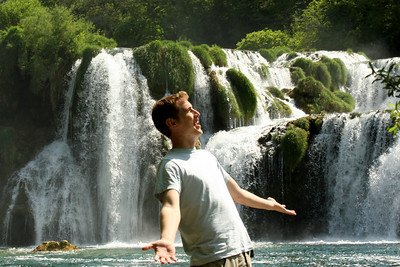 Rob enjoys the fabulous day - Krka N.P., Croatia ... May 8, 2008 ... Photo by Emily Page