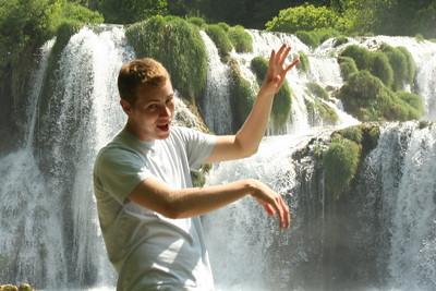 Rob thought he could climb the waterfalls - Krka N.P., Croatia ... May 8, 2008 ... Photo by Emily Page