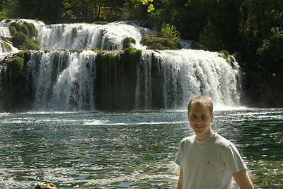 Rob at the base of the falls - Krka N.P., Croatia ... May 8, 2008 ... Photo by Emily Page