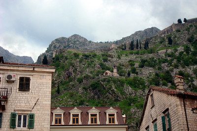 The church on the mountainside - Kotor, Montenegro ... April 30, 2008 ... Photo by Emily Page