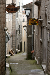 A twisting alley - Herceg Novi, Montenegro ... April 30, 2008 ... Photo by Rob Page III