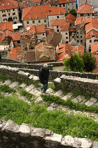 Hiking the walls above the city - Kotor, Montenegro ... April 30, 2008 ... Photo by Rob Page III