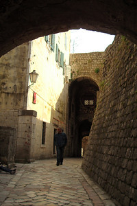 An old man walks the ancient streets - Kotor, Montenegro ... April 30, 2008 ... Photo by Emily Page