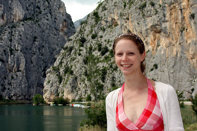 Emily and the canyon walls of Omis, a town south of Split - Omis, Croatia ... May 7, 2008 ... Photo by Rob Page III