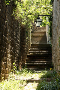 An old path along the side of the wall - Mali Ston, Croatia ... May 2, 2008 ... Photo by Rob Page III
