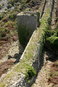 An unrestored section of the wall - Mali Ston, Croatia ... May 2, 2008 ... Photo by Rob Page III