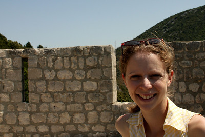 Emily on the walls of Ston - Ston, Croatia ... May 2, 2008 ... Photo by Rob Page III