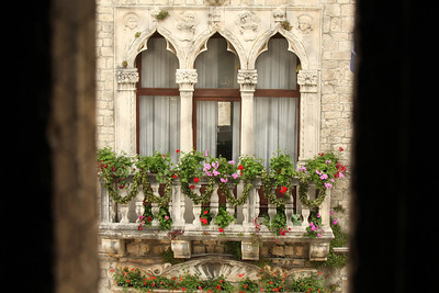 Looking through the window coming down from the top of the Cathedral of St. Lovro - Trogir, Croatia ... May 5, 2008 ... Photo by Rob Page III