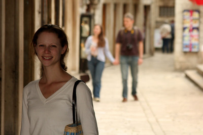 Emily on the streets of Trogir - Trogir, Croatia ... May 5, 2008 ... Photo by Rob Page III