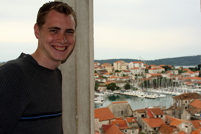 Rob and the city - Trogir, Croatia ... May 5, 2008 ... Photo by Emily Page