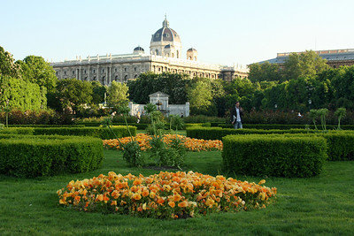 In the background is Austria's natural history museum.  The building itself dates from the late 1800's - Vienna, Austria ... May 9, 2008 ... Photo by Rob Page III