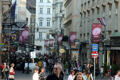 Looking down Kohlmarkt street - Vienna, Austria ... May 9, 2008 ... Photo by Rob Page III