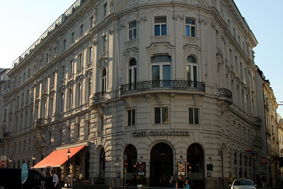 One of the corners at Michaelerplatz - Vienna, Austria ... May 9, 2008 ... Photo by Rob Page III