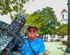 Statue fun in Ciuenfuegos, Cuba.