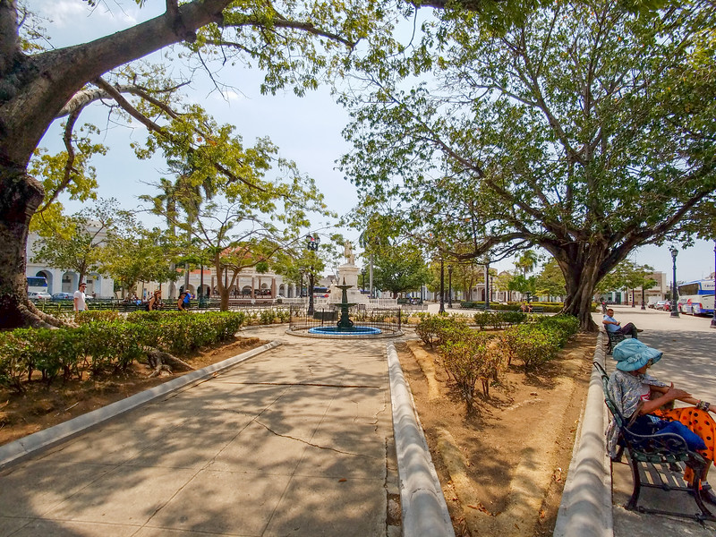 A small park across from the Theatre in Cienfuegos, Cuba.