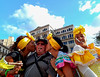Gringo tourist and the Havana Street Ladies at the  Plaza de San Francisco de Asis.