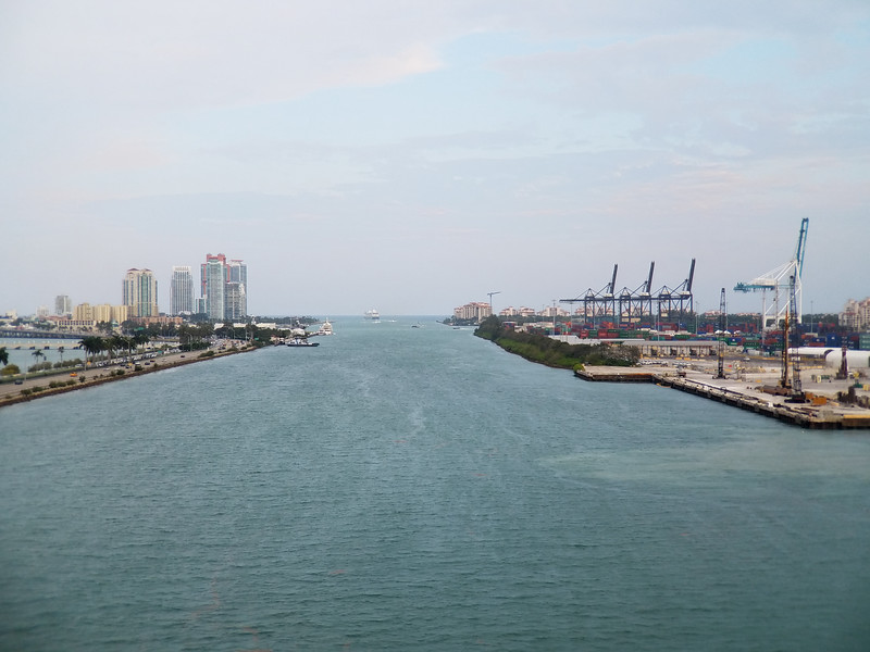 Sailing out of the Port of Miami on the way to Cuba