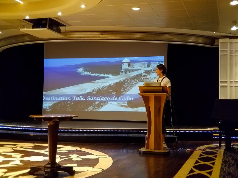 Discussion of Santiago de Cuba, the first destination.