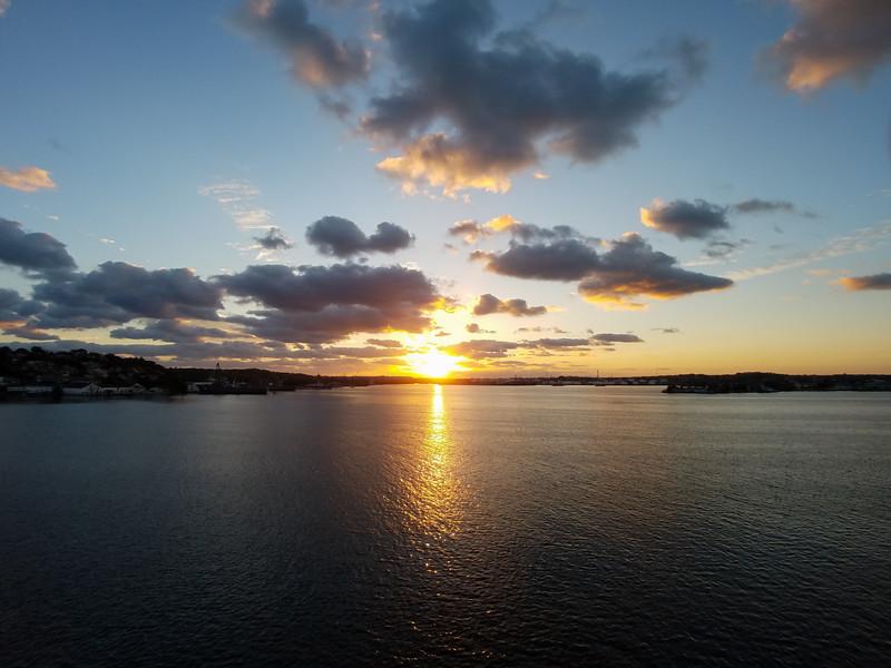 Sunrise in Havana Harbor