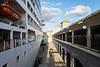 The Adonia docked at the Havana Harbor Customs Terminal
