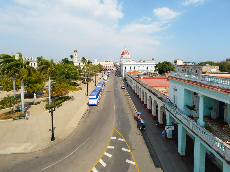 A portion of Jose Marti Park from the observation station.