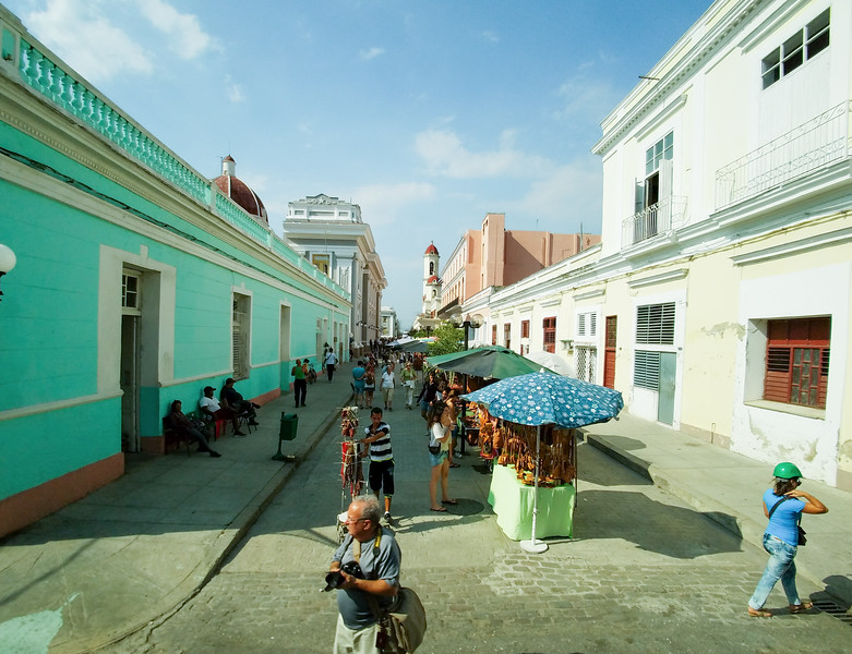 Walk the souvenier street back to the ship after touring Cienfuegos, Cuba.