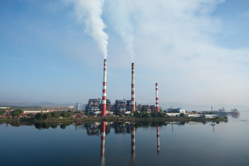 Industrial activity in Santiago de Cuba's harbor.