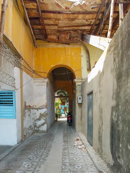 An alleyway in Cienfuegos, Cuba.