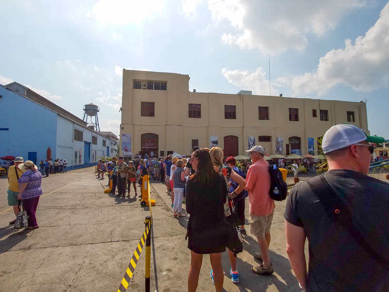 The line to buy CUCs, the approved local tourist currency.