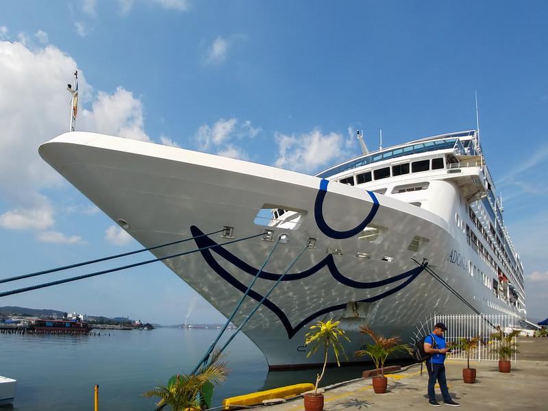 The Adonia in Port, Santiago de Cuba.