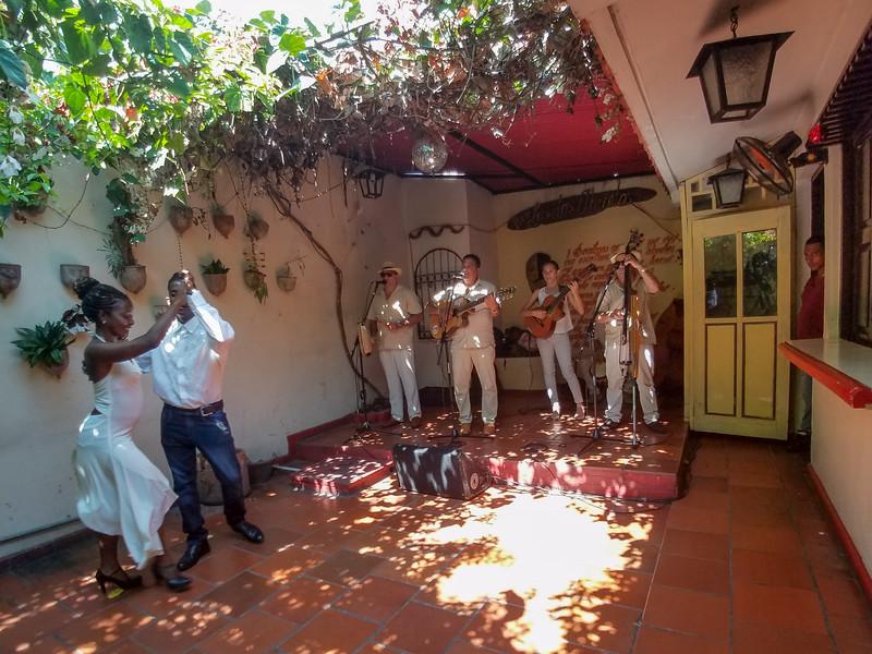 Jazz and Dance demonstration in Santiago de Cuba.