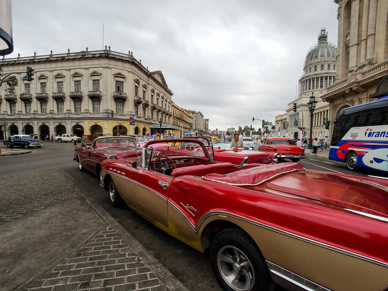 Classic cars on the streets of Havana, Cuba.