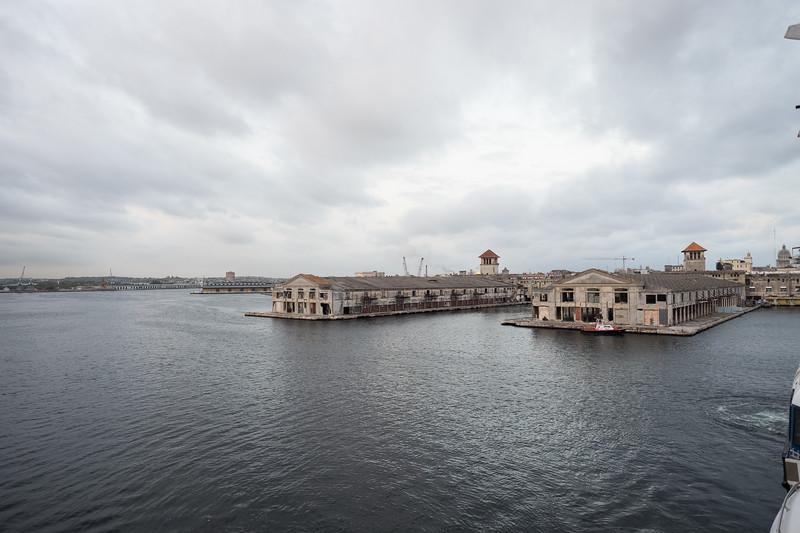 Docking at the terminal in Havana's Harbor.
