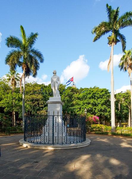 Statue of Carlos Manuel de Cespedes, First President of the Republic.